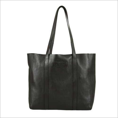 Ladies Dark Brown Leather Tote Bag
