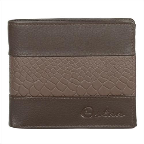 Mens Dark Brown Leather Wallet