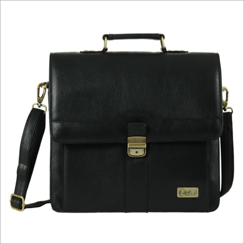 Mens Black Leather Office Bag