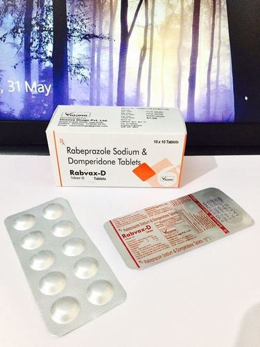 Rabeprazole sodium 20mg + Domperidone 10mg