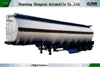 42000Liters 45000Liters Stainless Carbon steel oil petrol fuel tanker trailer gasoline transport tank trailer
