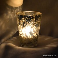 Small Gilasiya Silver Finish Candle Holder