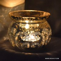 Indian Craft Glass Candle Holder