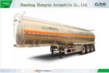 3 axles fuel oil liquid transporting Aluminum tanker truck semi trailer for sale