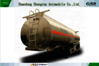 3 axles fuel oil liquid transporting Aluminum tanker truck semi trailer for sale