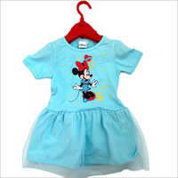Girls Sky Blue Frock