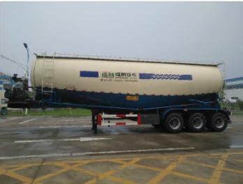 V Shape Bulk Cement Tanker Truck Semi Trailer Powder Tanker Cement Tank