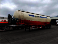 V Shape Bulk Cement Tanker Truck Semi Trailer Powder Tanker Cement Tank