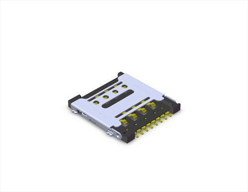Micro SIM Card Connector MUP-C791 8 Pin