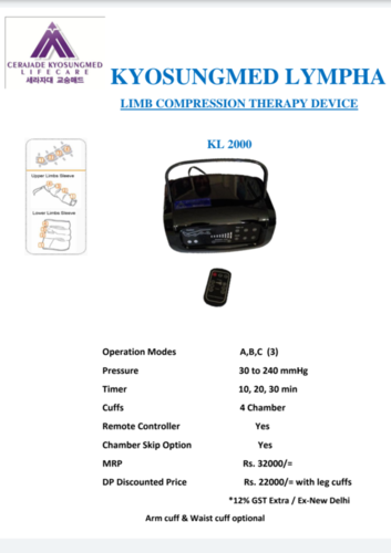 4 CHAMBERS LIMB COMPRESSION DEVICE