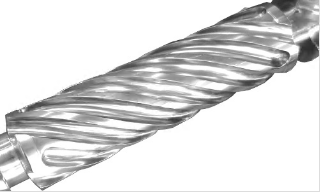 Helix channel barrier type screw