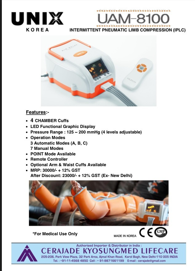 SEQUENTIAL COMPRESSION LYMPHEDEMA PUMP