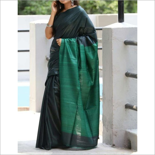 Ladies Fancy Tussar Ghicha Silk Saree
