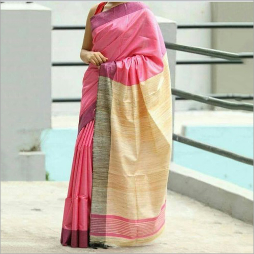 Ladies Tussar Ghicha Silk Saree