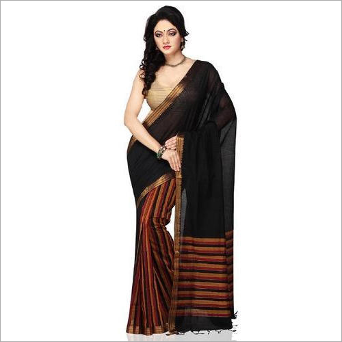 Ladies Black Handloom Saree