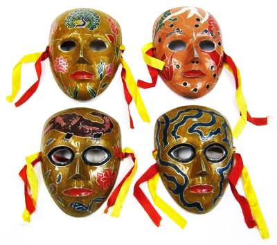Aluminum Enamel Masks (set of 4)