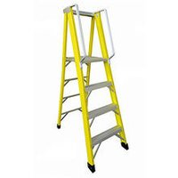 FRP  PLATFORM STEP LADDER ( WITH RAILING )