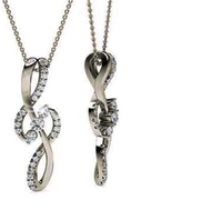 Silver Diamond pendants