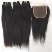Unprocessed Best Straight Bundle And Closure 5x5