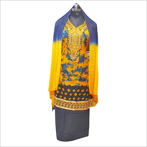 Ladies Cambric Printed Semi Stitched Kurta