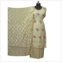 Ladies Satin Semi Stitched Kurta