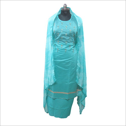 Ladies Silk Semi Stitched Suit