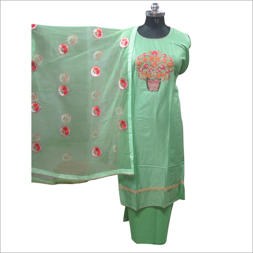 Printed Satin Semi Stitched Kurta