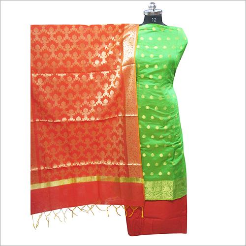 Ladies Banarsi Silk Unstitched Kurta