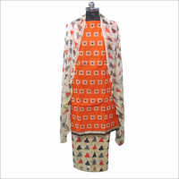 Ladies Cotton Jacquard Unstitched Kurta