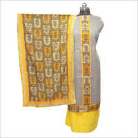 Ladies Cotton Khadi Unstitched Kurta