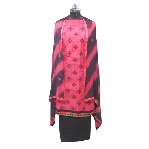 Ladies Pink Salwar Unstitched Suit