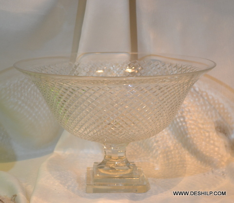 Crystal Glass Fruits Bowl