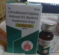 15ml Levosalbutamol Sulphate Ambroxol Guaiphenesin Syrup