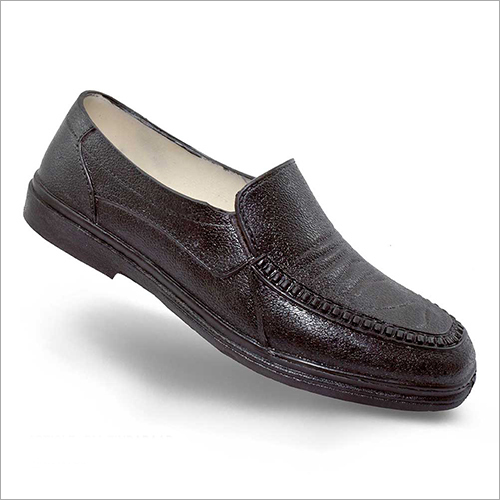 Mens Black Leather Loafer