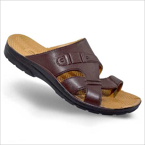 Mens PU Leather Slipper