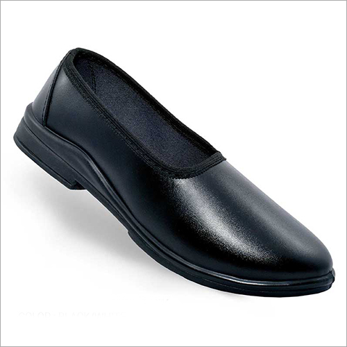 Black Round Baily Girls Black School Shoes