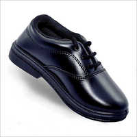 Class Monitor Girls Black Leather School Shoes