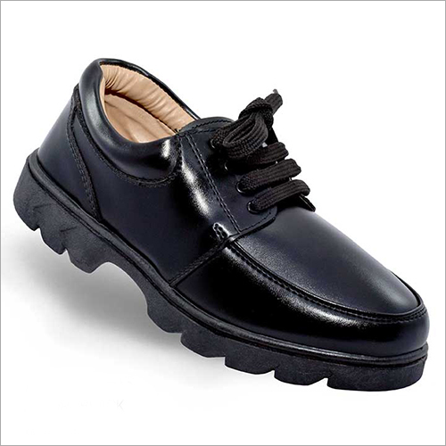 Junior Girls Leather Black Shoes