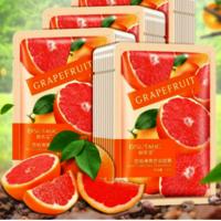 Organic skin care product maker beauty personal acne fruit face grapefruit facial mask