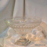 Crystal Cutting Glass Fruits Bowl