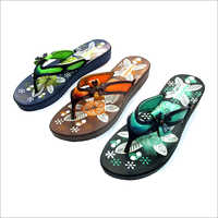 Ladies Flower Print Slipper