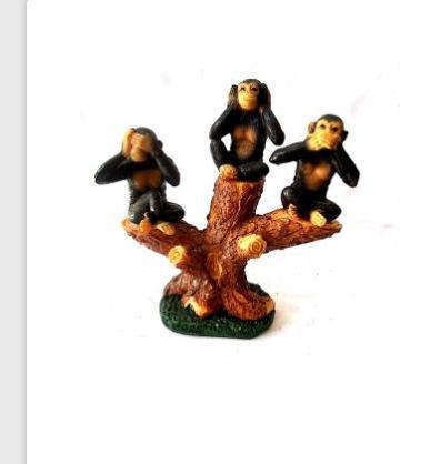 Decorative Poly Stone Triple Monkey Statue