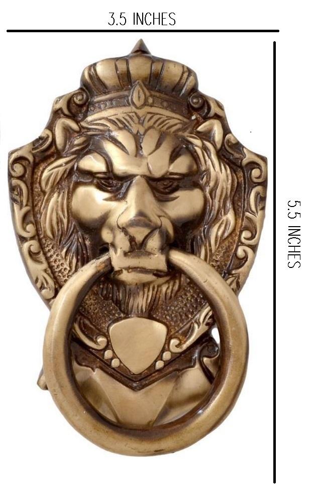 Brass Antique Lion Door Knocker