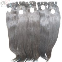 Double Drawn Weft Virgin Hair Extensions 9A Grade Remy Human Hair