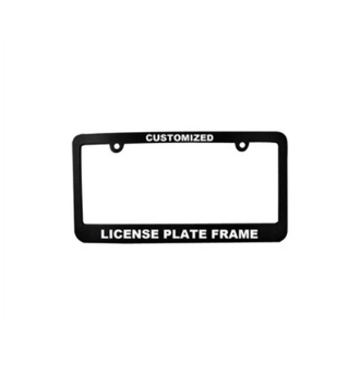 Features for license plate frames/license plate holders 10