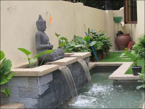 Statue Waterfall Fountain