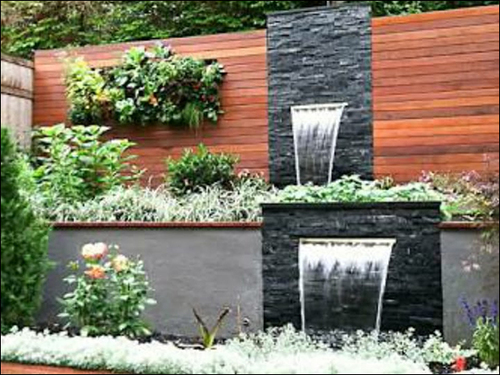 Two Step Waterfall Fountain