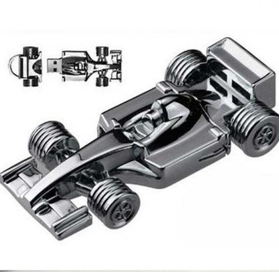 Quace Racing Car Metal USB Pen Drive (X1629)