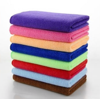 Microfiber weft Brushed knitted towels