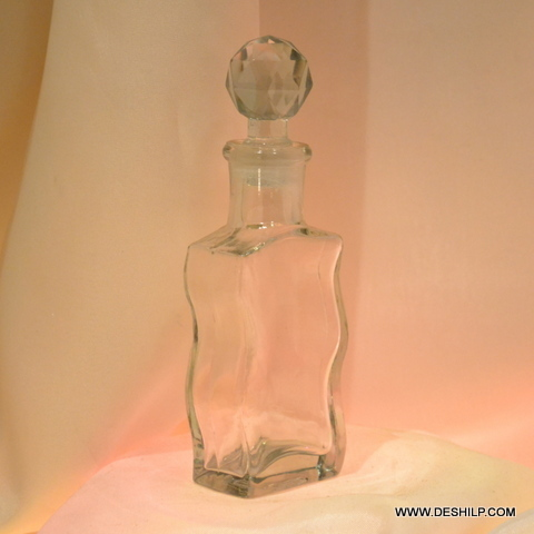 Clear Glass Antique Perfume Bottle
